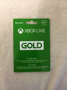 xbox live gold 12 month membership $50