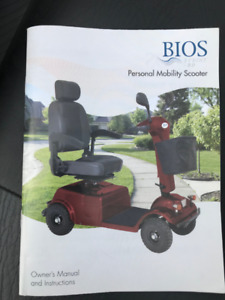 Motorized Scooter with all the extras you will need.