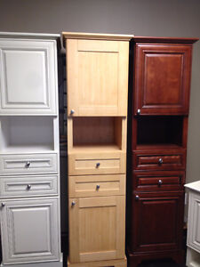 SOLID WOOD LINEN TOWER CABINETS and WALL CABINETS ON SALE !!! Cambridge Kitchener Area image 1