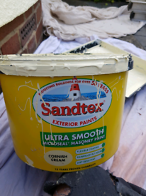 Sandtex cornish cream masonry paint