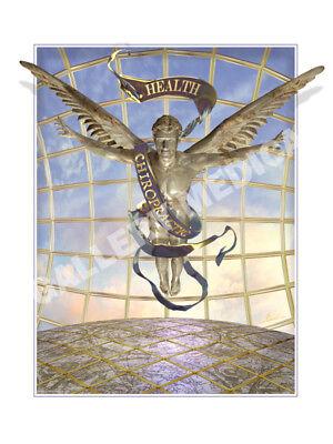 Visionary Chiropractic Caduceus Emblem Art Print Poster