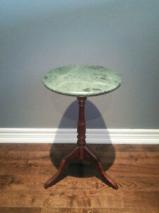 Bombay side table with granite top