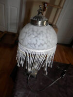Antique Table Lamp with Beads