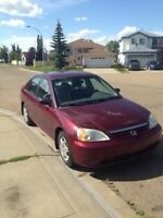 2002 Honda Civic ! Reliable , clean and nice colour !!