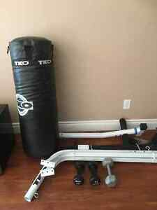 Punching bag and stand only 300 for both Needs to be gone ASAP
