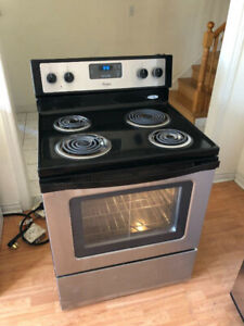 """Whirlpool 30"""" stainless steel electric coil top stove oven range"""