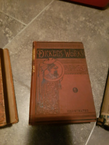 2 VERY OLD CHARLES DICKENS BOOKS AND THE DEVIL OF TODAY BY REV.