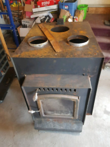 Drolet wood stove and ducted adapter