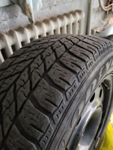 Like New 4 x 235/55/17 Good Year Winter Tires Including Rims
