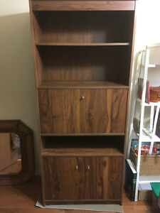 BOOKCASE - Walnut finish