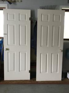 Portes de chambre et garde-robes