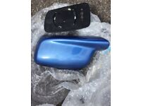 Bmw e46 blue side wing mirror cover
