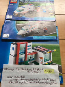 Lego City Sets and other Lego sets sold as 1 Lot