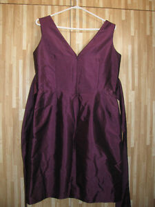 Short Plum Evening/Party dress - Size 18 (Alfred Sung)
