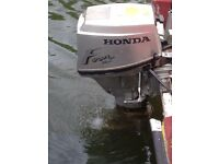 2 Honda 15hp 4 stroke outboard engines
