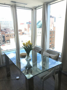 Glass Top Modern and New Dining Table