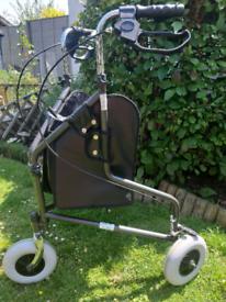 Mobility/walking aid wheeler