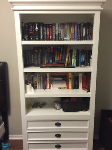Lovely white bookcase