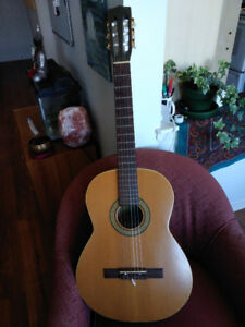 Classical Guitar and High Quality Case, Capo included!