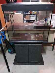 37 Gallon tall fish tank with stand