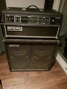 Ampeg svt 200t head and Doyle 410 bass amp