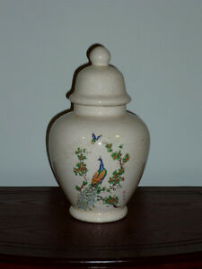 Ginger Jar with Peacock Motif : Excellent Condition