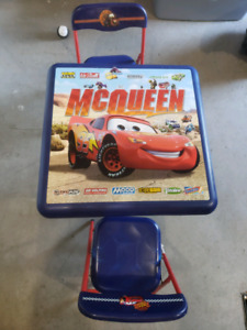 Cars Lightening McQueen Table and chairs