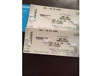 2 SOLD OUT WWE Raw tickets!