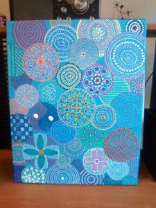 Beautiful dot painting