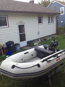 "10 ft Sea Max Inflatable and ""NEW"" 4 stroke outboard"