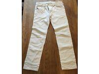 Men's White Diesel Jeans