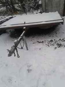 Sled trailer 2'place steel deck $650