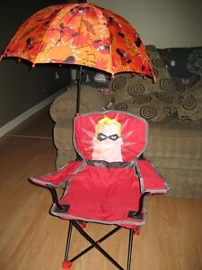 The INCREDIBLE kids folding Lawn Chair with matching Umbrella