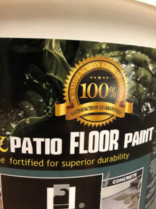 FLOOR PAINT FOR CONCRETE AND WOOD FLOORS /BASEMENTS AND PORCHES