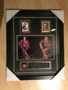 Cadre de cartes de collection de Maurice Richard & Jean Beliveau