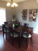 Expresso finish 7 piece dining room table set