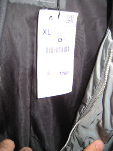 New jacket with price tags