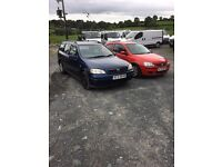 Few trade ins to clear 2004 diesel Astra 2003 1.2 six both mot