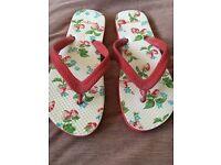 Cath Kidston Flip Flops size 7-7 1/2