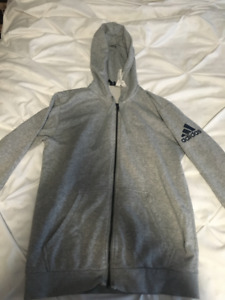 Women's Adidas Grey Zip-Up Sweatshirt (Size small)