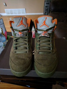 2006 Jordan 5 army green olives size 10