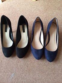 Ladies size 6 court shoes 2 pairs