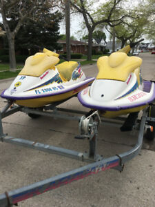 Two 1995 XP 720 Seadoos with double trailer