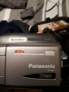 Old school Panasonic video camera.Good for the vintage look