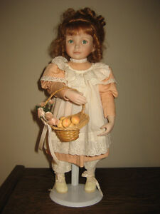 """Ashton Drake Handcrafted Porcelain Doll """"Peaches and Cream"""""""