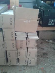 11+ boxes tile baseboard