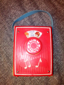Vintage  fisher price music box  works good with wood back