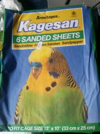 joblot of birdcage sand&perch sheets