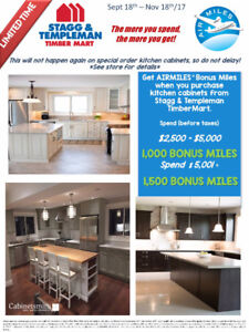 Kitchen and BONUS Airmiles on at Stagg & Templeman TimberMart