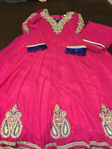 BRAND NEW 2018 INDIAN ATTIRE - WOMENS FASHION - Pink Frock Suit